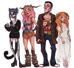 http://fukari.deviantart.com/art/halloween-costumes-491716932