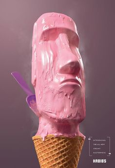 Delicious Ice Cream Advertising In The Shape Of Famous Greek Sculptures  #advertising #creative #printad  #advertisingideas #advertisinginspiration