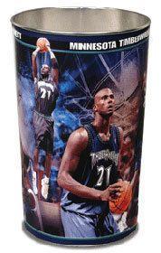 "Minnesota Timberwolves Kevin Garnett 15"""" Waste Basket Z157-1094399685"