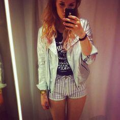 Metallic Leather Jacket, Jack Daniels Shirt, Shorts, Casio Watch