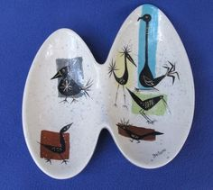 'Bird Isle' Divided Bowl by Marc Bellaire