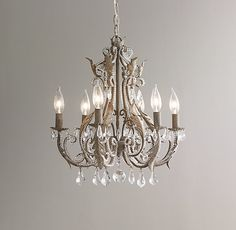 Palais Small Chandelier - Aged Metal $377