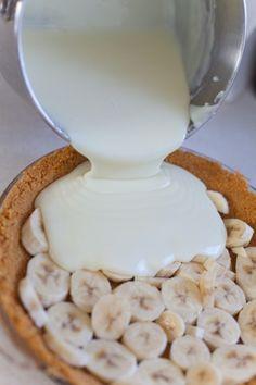 Old Fashioned Banana Cream Pie 3c whole milk, 3/4c sugar, 1/3c flour, 1/4t salt, 3 yolks, 2T butter, 1/2t. banana flavoring, 1t vanilla, 2-3 bananas by veronicawasp