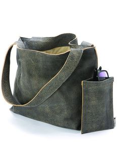 34e834af7bf8 Grey Leather Tote Bag, Soft Leather Bag with Zipper, Handmade Leather Shoulder  Bag, Women Bag, Ladies Bags, Large Leather Tote, Office Tote