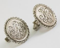 Vintage CufflinksCeltic Design on Silver Toned by CuffsandClips, $18.40