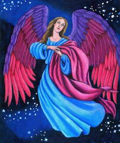 """Color Pencil Angel Painting.  Repinned by An Angel's Touch, LLC, d/b/a WCF Commercial Green Cleaning Co. """"Denver's Property Cleaning Specialists"""" http://www.angelsgreencleaning.net"""