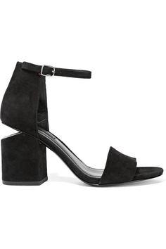 ALEXANDER WANG Abby Cutout Suede Sandals. #alexanderwang #shoes #sandals