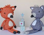 Crochet Amigurumi Fox and Wolf PATTERN ONLY PDF Instant Download Stuffed Toy Diy Cute Childrens Gift