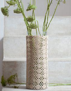 Modèle de vase en crochet