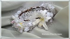 TROPICAL SILK FLOWER Crown  Hawaiian Tropical by MalamaPua on Etsy