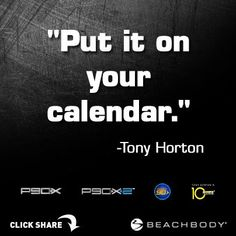 Schedule your workout today... don't think about it. #TonyHorton