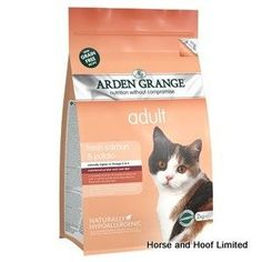 Arden Grange Salmon Potato Adult Cat Food 400g Arden Grange Salmon Potato Adult Cat Food is a complete feed suitable for all breeds of adult cats is especially good at improving overall skin & coat health.