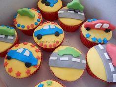 Auto Cupcakes - Car cupcakes - Cupcakes met Fondant - Twinkelotje.nl