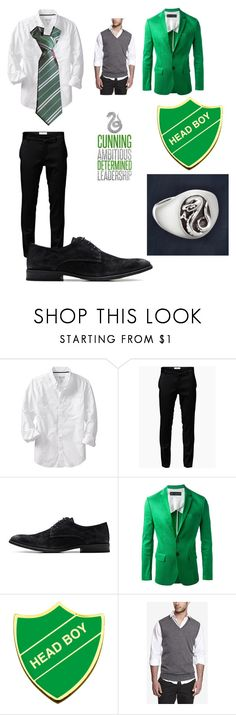 """""""Modern hogwarts uniform (slytherin)"""" by ncstategal ❤ liked on Polyvore featuring Old Navy, Jack & Jones, Dsquared2, Express and modern"""