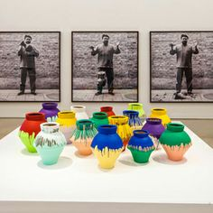"""""""Colored Vases"""" by the artist Ai Weiwei at the Pérez Art Museum Miami in Florida in November The police on Sunday arrested a man who is accused of . Ai Weiwei, Zebra Kunst, Zebra Art, Art Wynwood, Art Is Dead, Perez Art Museum, Colored Vases, Royal Academy Of Arts, Installation Art"""