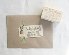 "Custom Address Stamp - 2 1/2"" hand lettered calligraphy return address rubber stamp - personalized - calligraphy address stamp - A0009 on Etsy, $62.28 CAD"