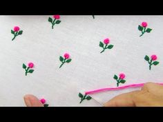 Hand Embroidery, All Over Embroidery for Dresses, Bullion Knot Stitch - YouTube