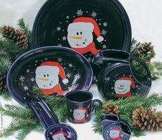 Oh I want!!! Christmas Fiestaware ♥♥ fiesta ware