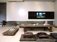 modern twist to a Korean living room!