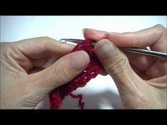 stokjes haken : hoe kan je het eerste stokje mooi haken / how to crochet the first dc - YouTube