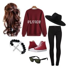 """""""Kpop Stage Outfit #3"""" by taiga-9 on Polyvore featuring J Brand, Converse, Element, Ray-Ban and Palm Beach Jewelry"""