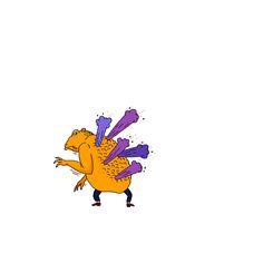 조금만 자기 영역에 들어온다 싶으면 준비했다는 듯이 독을 뿜는다. 뿜!뿜! . . #두꺼비 #toad #defensive #poison #drawing #scribbling #illustration