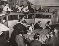 An RAF control room for one of the sector stations during the Battle of Britain. Without these control rooms to direct the squadrons the battle could easily have been lost.