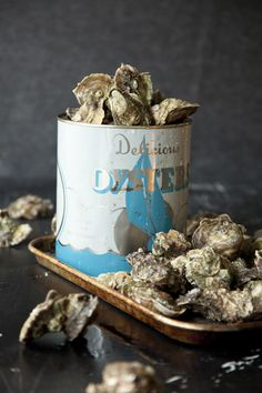 Oysters from @Salted and Styled ...food inspired living. Steam them. Fry them. Raw. Just give me oysters!