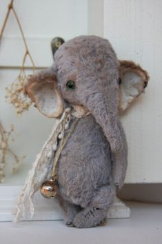 sewing pattern for vintage elephant designed by Olga Orel  English instructions on all my patterns, fully jointed, will send to your email address