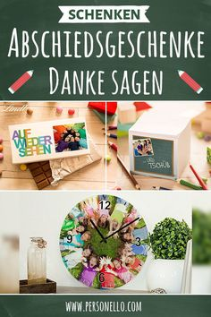 Geschenke für Lehrer - Danke sagen - Abschiedsgeschenke The time in daycare or primary school is coming to an end and it's time to say thank you. Farewell gifts for the kindergarten teacher or the Cute Birthday Gift, Diy Birthday, Diy Gifts For Friends, Gifts For Mum, Diy Gifts For Christmas, School Is Over, Farewell Gifts, Anniversary Gifts For Husband, Mom Day