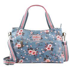 Trailing Rose Zipped Handbag With Detachable Strap