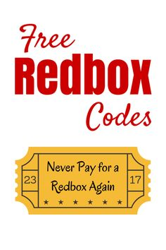 21 Free Redbox Codes (and 6 Ways to Get More): Sign Up for Redbox Emails and Get a Free Rental