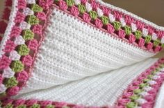 Crocheted Baby Blanket - Granny Border. I like the clean simplicity of this blanket
