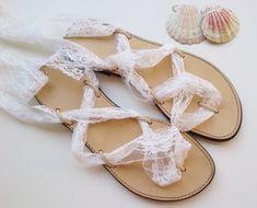 wedding sandals white wedding sandals beach by GreekSandalShop