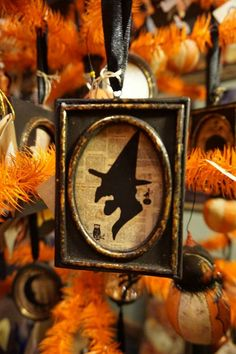 Witch silhouette ornament
