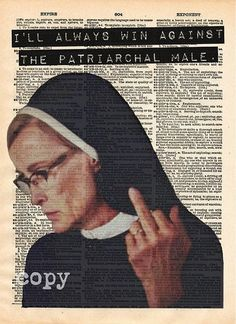 Because who wouldn't want this on their wall?! Sister Jude Print ($13) American Horror Story: Asylum