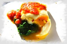 poached egg over spinach Poached Eggs, Spinach, Breakfast, Food, Morning Coffee, Essen, Poached Egg, Meals, Yemek