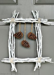 pine cone twig wreath, seasonal holiday d cor, wreaths