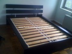 ikea aspelung bed frame assembled at loyola university campus