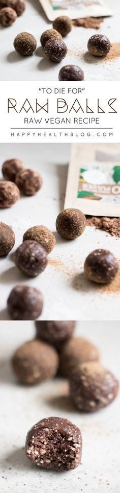 """To die for"" raw balls - chocolate, dessert recipes, snack recipes, raw recipes - Happyhealthblog - Photo: Natalie Yonan"