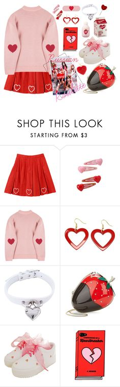 """""""Red Velvet - Russian Roulette """" by kwonrena ❤ liked on Polyvore featuring Kate Spade and Etude House"""