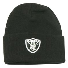 Oakland Raiders Classic Logo Cuffed Winter Knit Hat - Black by Reebok. $8.00. Show off your team spirit!. One size fits most ages 13+. Officially licensed NFL headwear. Keep your head warm during the cold winter months while showing off your team spirit with this officially licensed winter knit headwear. Makes a perfect gift item or self purchase. One size fits most ages 13+. Officially licensed. This item is fulfilled by Amazon.