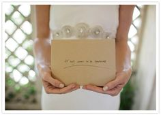 the before wedding ceremony letter idea has grown on me... an intimate way to express the excitement of the day