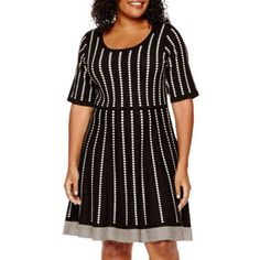 Danny & Nicole® Elbow-Sleeve Sweater Dress - Petite - Plus  found at @JCPenney