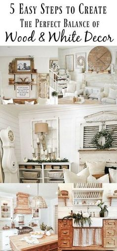 Finding the perfect balance of wood and white can be a challenge. I'm sharing 5 easy steps help you achieve the perfect wood and white vintage look.