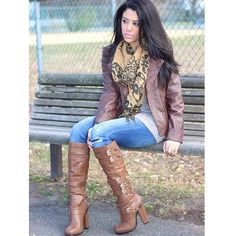 """Knee High Buckle Boots Exactly as shown in photos. Gold buckles on the sides with a thick heel. About 4"""". Only worn twice. Faux leather material. Charlotte Russe Shoes Heeled Boots"""