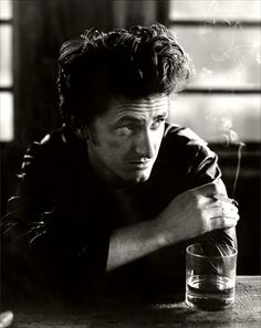 Sean Penn (1960) - American actor, screenwriter, film director, activist, and politician. Photo by Bruce Weber