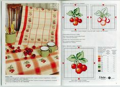 Схемы вышивки крестом кухонных полотенец. | Вышивка крестиком