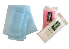 Nice 3 Touch Me Exfoliating Spa Bath Nylon Towel Beauty Skin Washcloth (Set of 3)