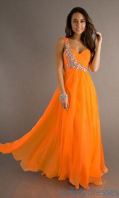 orange prom dress...add purple shoes or jewelry or purse.. https://www.etsy.com/shop/SowingAcorns?ref=hdr_shop_menu #valentine #Carolina #Clemson #silk #scarf #scarves #handmade #accessories #women #fashion #blue #orange #purple #green #pink #yellow #gray #black #fashionista